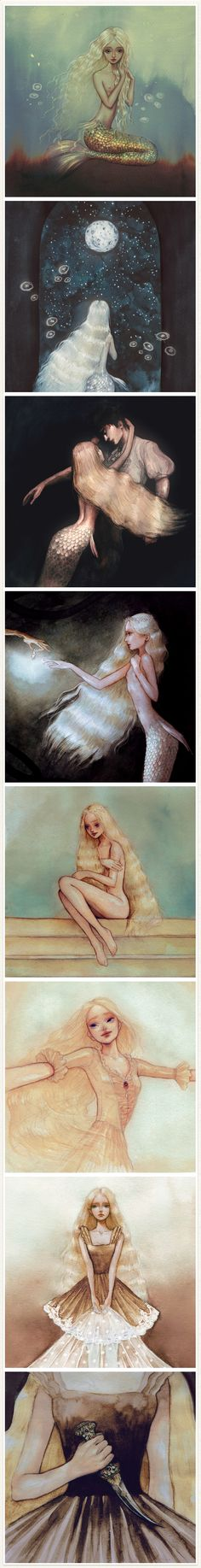 """The Little Mermaid"" illustrated by Kata Kiss"
