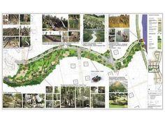Resultado de imagem para long linear park plan