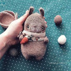 Crochet Bunny, Knit Crochet, Crochet Hats, Crochet Toys Patterns, Stuffed Toys Patterns, Amigurumi Toys, Free Pattern, Dinosaur Stuffed Animal, Knitting