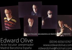 Edward Olive es actor, locutor y presentador inglés británico en Madrid y Barcelona España British English actor, TV presenter and voice over Madrid Spain