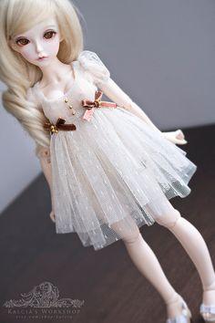 Regency lolita dress for Mini Super Dollfie Volks Luts by kalcia