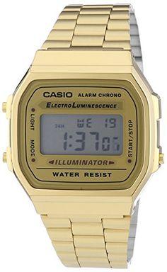 Casio Collection Unisex-Armbanduhr Digital Quarz A168WG-9EF