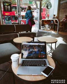 London England (Starbucks @starbucksuk)  by David (@thewzrdharry)  Use our app to find the best cafes and spaces to work from. -- Photographer and designer David doing some work at Starbucks in London England. -- #workhardanywhere