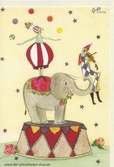 Ein Abend im #Zirkus   ist wie eine kleine Auszeit vom Leben www.der-schreibladen-shop.de #Weihnachtskarten   #Postkarten   #Papeterie   #postcrossing   #Nürnberg   #GrätzVerlag
