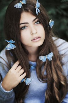 Butterflies and a girl by Jovana Rikalo - Photo 125284543 - 500px