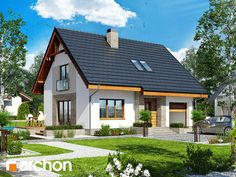 Dom w lucernie 4 Style At Home, Home Fashion, Gazebo, House Plans, Outdoor Structures, Mansions, House Styles, Google, Home Decor