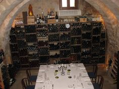 Ragusa Ibla well- stocked wine cellar