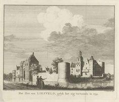 Jan Caspar Philips | Gezicht op Kasteel Liesveld bij Groot-Ammers in de Alblasserwaard, naar de situatie in 1733, Jan Caspar Philips, 1749 |