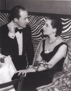Diana and Reed Vreeland at El Morroco 1938.  Mrs. Vreeland is wearing her Belperron bracelet.  Photo by Jerome Zerbe from the Power of Style by Annett Tapert and Diana Edkins