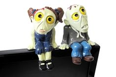 Zombie Boy and Zombie Girl Monitor Sitters (Set of 2) - Fark Shop