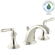 KOHLER Devonshire 8 in. Widespread 2-Handle Low-Arc Bathroom Faucet in Vibrant Polished Nickel