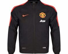 Manchester united squad sideline woven jacket black