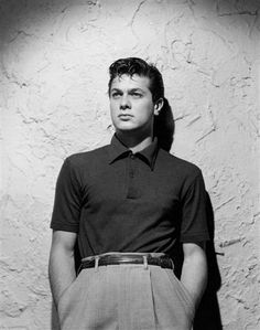 Tony Curtis.  I had the pleasure of meeting him once. The real deal - a true old school movie star./••••Was married to actress Janet Leigh; father of Actress & author, Jamie Leigh Curtis.
