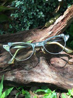 3938cb325f85 Cat Eye Glasses, Cat Eye Glasses Frames, Silver Cat Eyeglasses, Chrome Cat  Eye Glasses, Vintage Eyeglasses, Vintage Eyewear, SRO Cat Eyes