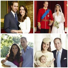 The Duke and Duchess of Cambridge's marriage in four official photos, including Prince George