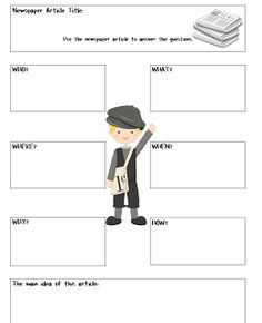 Extra! Extra! Read All About It! - Freebie
