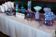 Wedding candy bar - purple & blue theme