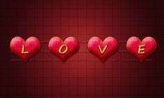 Create LOVEly Text with Hearts and Layer Styles in Adobe Photoshop