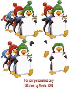 Christmas decoupage Christmas Sheets, 3d Christmas, Christmas Drawing, Christmas Cards To Make, Christmas Makes, Xmas Cards, Illustration Noel, Illustrations, Image 3d