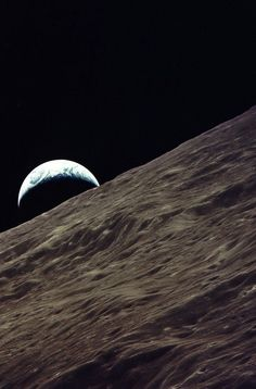 December, 1972 - Apollo 17. Earthrise viewed from Apollo 17- Amazing...