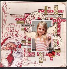 """Authentique """"Christmastime""""collection Pinterest Inspired Layout with Christmastime"""