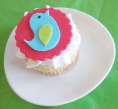 Colorful Modern Bird Fondant Cupcake Toppers for Birthdays, Showers, and Other Events. $16.00, via Etsy.