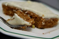 easy and delicious pumpkin sheet cake with vanilla bean cream cheese frosting.  This is the only pumpkin cake recipe you'll ever need.