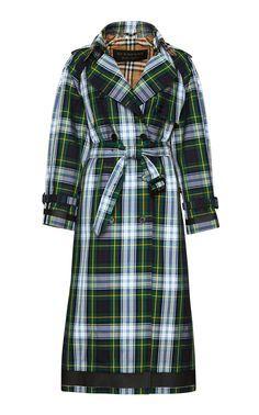 Burberery Resort18 tartan gabardine trench coat