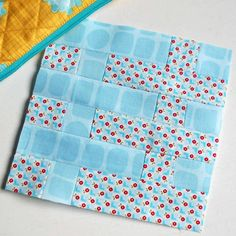 100 Modern Quilt Blocks - Block 59 - Blue Skies Ahead.  Love how this one turned out.