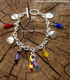 Autism Asperger Syndrome Awareness Bracelet  by StarshineBeads on Etsy  #autism #aspergers #aspergersyndrome #awarenessjewelry #awarenessbracelet #ribbonjewelry #ribbonbracelet #survivorbracelet #survivorjewelry #causes #jewelry #charmbracelets #giftideas #gifts #uniquegifts #giftsforher