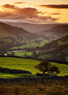 Swaledale sunset, Yorkshire, UK beautiful photo by John Patrick
