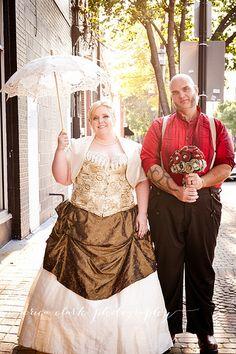 John and Sandi Jo's Neo-Victorian circus sideshow wedding