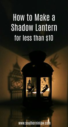 How to make a DIY Shadow Lantern on a Budget Learn how to turn an IKEA Rotera Lantern into a DIY Disney Peter Pan Shadow Lantern with this easy tutorial. A perfect weekend craft project you can make in under an hour for less than Disney Diy Crafts, Disney Home Decor, Diy Disney Gifts, Diy Disney Decorations, Disney Christmas Crafts, Diy Christmas, Holiday, Peter Pan Disney, Peter Pan Shadow