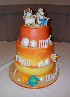 Beach tower cake