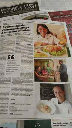 Tudo o que você quer está do outro lado do medo.!  A Chef Ana Stellato, fala do seu Antirestaurante o #14b em matéria de página inteira em O GLOBO RJ deste sábado 5.12.15!