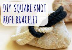 DIY Square Knot Bracelet