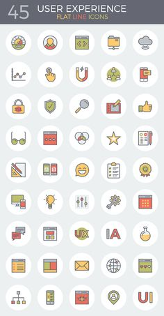 A Preview Of The Flat Line UX Icon Set