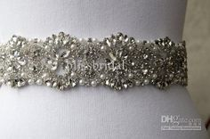 Wholesale Wedding Dress - Buy Latest Design Crystal Shine Pearl Beaded Hand Made Wedding Dresses Belt Beidal Sash, $59.0 | DHgate