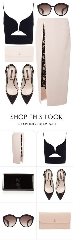 """""""Blind date"""" by ruska-10 ❤ liked on Polyvore featuring Marios Schwab, Zimmermann, Yves Saint Laurent, Zara and Valextra"""