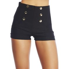 High Waisted Fancy Short ($17) ❤ liked on Polyvore featuring shorts, bottoms, wet seal shorts, highwaist shorts, high waisted short shorts, high-rise shorts and high-waisted shorts