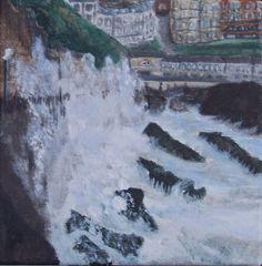 Waves Seaside Storm Original Painting on by MarisaOriginalArt, £20.00
