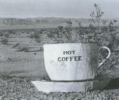 Edward Weston. Hot Coffee, Mohave Desert, 1937. Silver print photograph, 7-3/8 x 9-3/8 in.
