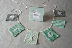 Diy Crochet Garland, Crochet Bunting, Crochet Decoration, Diy Crochet And Knitting, Crochet Bebe, Baby Knitting, Bunting Garland, Buntings, Baby Decor