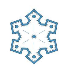 copo de nieve para imprimir y colorear en navidad