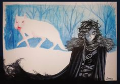 Jon Snow & Ghost - Night gathers, and now my watch begins. by ~Snoo-Snoo on deviantART #got #agot #asoiaf