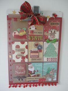 Scrap Spot: PAP / DIY / TUTORIAL Calendário do Advento, Pocket Letter Advent calendar