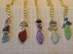 ONE-OF-A-KIND GEMSTONE PENDANTS // $350