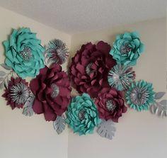 Boda fondo de flor de papel pared de flores de papel Telón