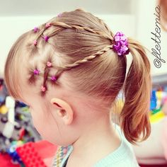 """""""Elastics, rope braids and ponytail """" Photo taken by @flettemia on Instagram, pinned via the InstaPin iOS App! http://www.instapinapp.com (03/31/2015)"""