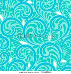 Swirls seamless abstract background with blue curls and soft colors